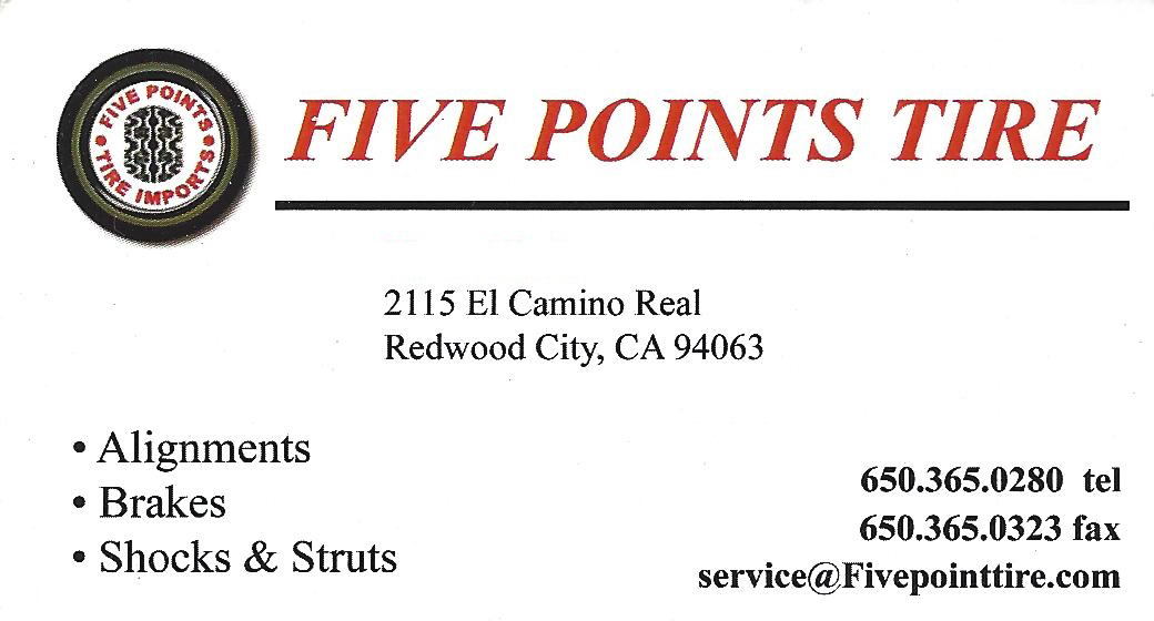 Five Points Tire in Redwood City
